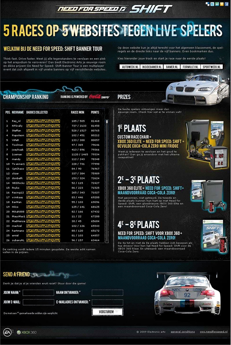 Need for Speed Shift Electronic Arts